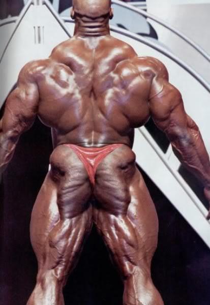 Ronnie Colemans Rücken