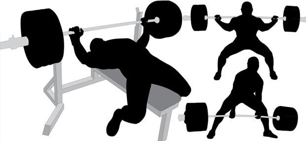 Kraftdreikampf (Powerlifting) - Kniebeugen, Kreuzheben, Bankdrücken