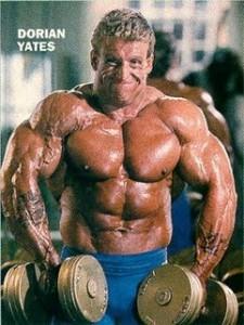 Dorian Yates macht Schultheben