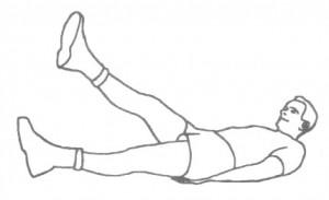 abwechselndes Anheben der Beine