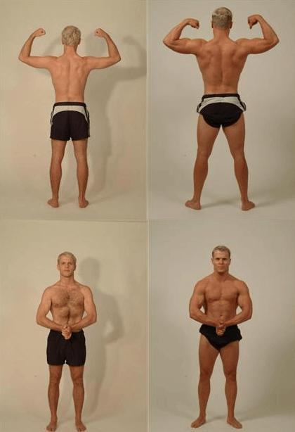 Vorher - Nachher - Vergleich von Tim Ferriss