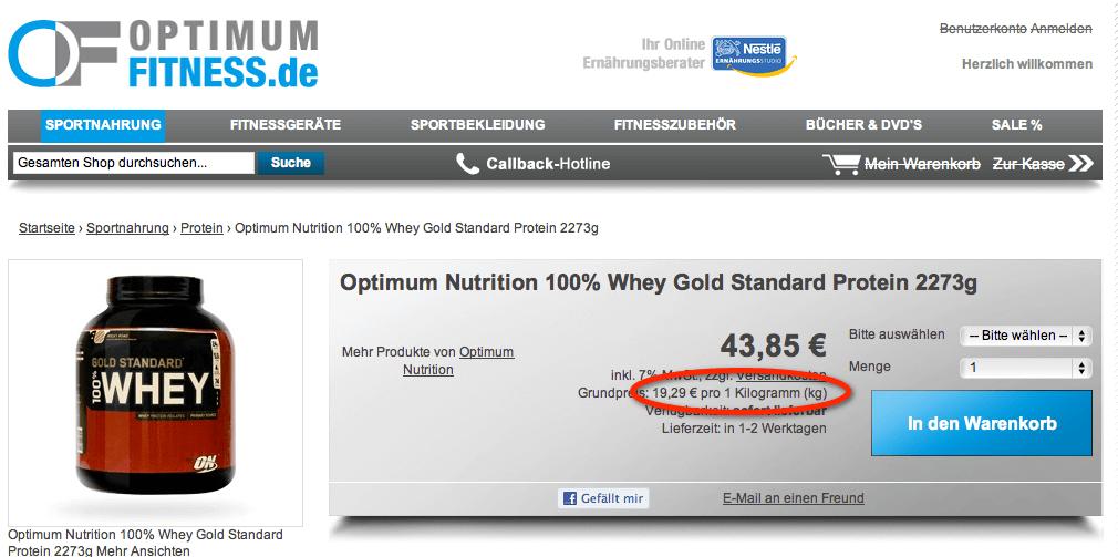 On Whey für nur 19,29€ pro Kg