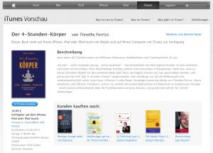 4 Stunden Körper von Tim Ferriss bei iTunes