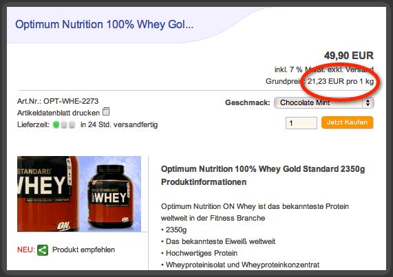 Optimum Preis