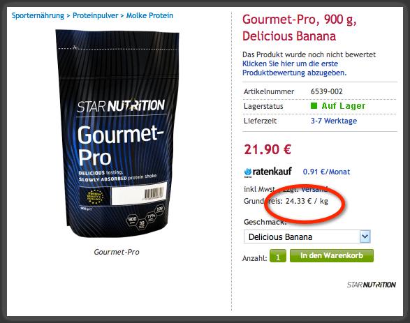 Preis Gourmet-Pro
