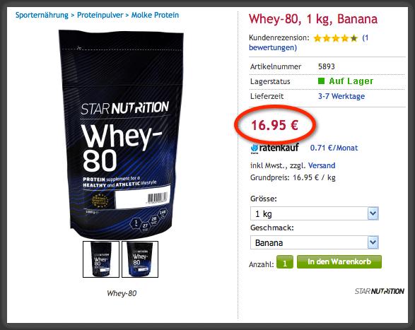 Preis Whey-80