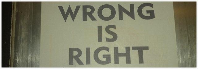 richtig und falsch