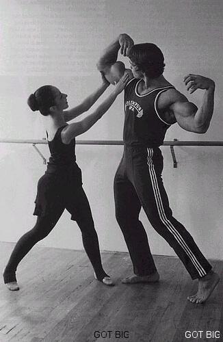 Arnold Schwarzenegger beim Ballett