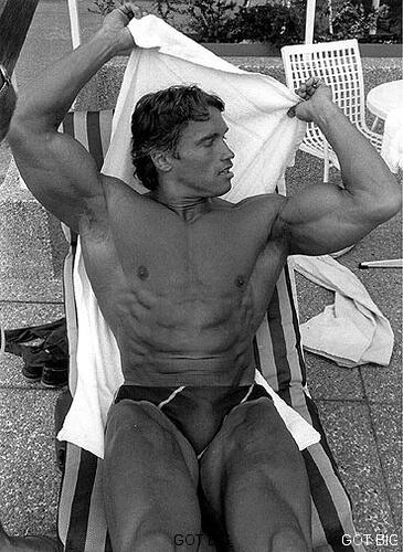 Arnold beim Sonnen