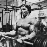 Arnold beim Bizepstraining