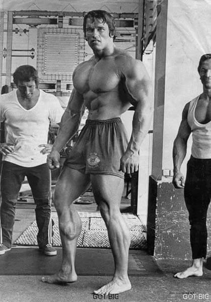 Wadenposing mit Arnold Schwarzenegger