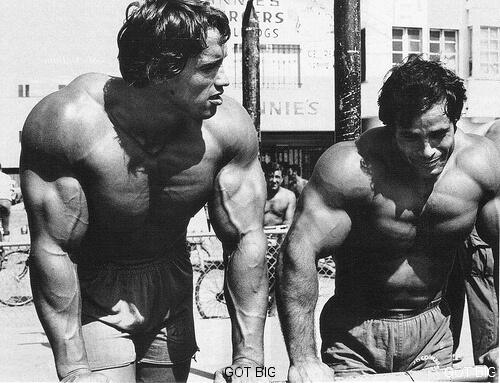 Arnold und sein Freund Franco