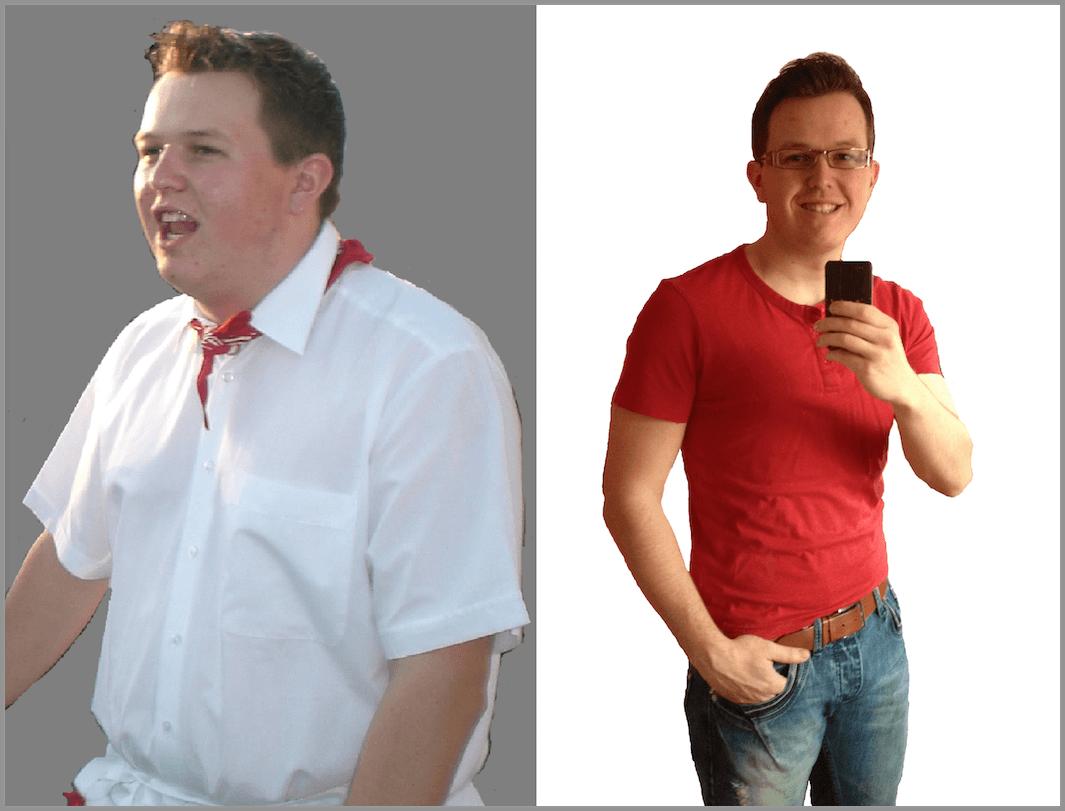 Arnold Swacheneger vor und nach dem Abnehmen
