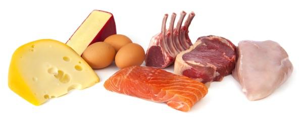 Iss vor allem eiweisshaltige Lebensmittel für einen flachen Bauch