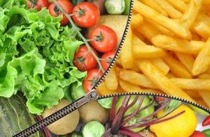 richtige und falsche Nahrungsmittel