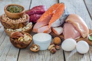 Proteine - Fisch Fleisch und Eier