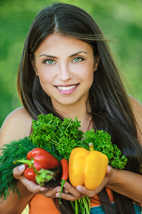 Vegane Ernaehrung gesunde Lebensmittel