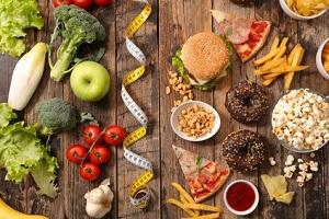 verhältnis gesunder lebensmittel zu ungesunden