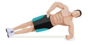 Seitlicher Plank Unterarmstuetz