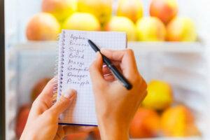 schlank bleiben einkaufen mit liste